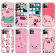 Fashion Cartoon Pink Pig Phone Case For iPhone 11Pro XR 7 8 6 6S Plus X XS MAX 5 5S SE Story Silicone Phone Cover(China)