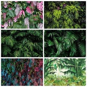 Image 1 - Laeacco Tropical Wald Grün Pflanzen Blätter Laub Fotografie Kulissen Fotografischen Hintergründe Geburtstag Photo Photozone