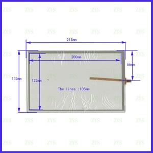 ZhiYuSun AN 3773 213mm*132mm 9inch 4-wire resistive touch panel for Car DVD,213*132 GPS Navigator screen AN3773(China)