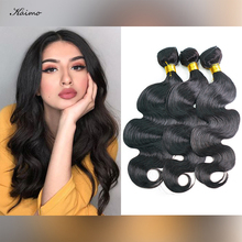Human-Hair-Bundles Weft-Free Body-Wave Double-Machine Shedding-Distangled Natural-Color