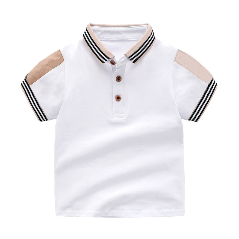 New 2019 Baby T-shirt For Boy Kids Casual  Stripe Shirt Tops Summer Toddler Boys Lattice Shirts For Children 1-7 Years