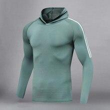 T-Shirt Fitness Running-Tops Gym Long-Sleeve Cycling-Sportswear Tight Stretch Men Men's