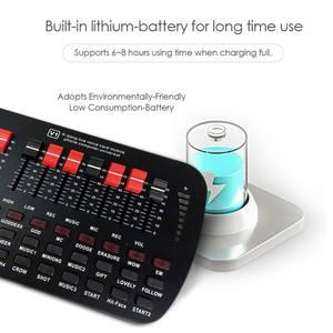 Image 3 - Bluetooth קריוקי קונסולת 20 אפקטים קוליים שידור KTV לחיות נפח מתכוונן חיצוני אודיו מיקסר כרטיס קול סטודיו