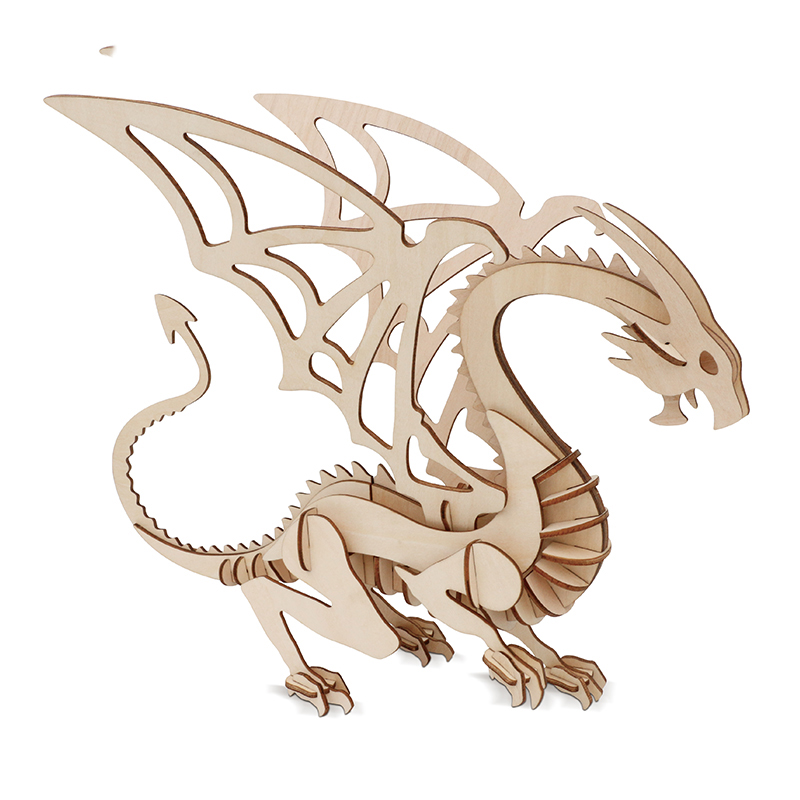 3D Puzzle Wood Dinosaur 3D DIY Toy Puzzle World Style Puzzle model building free shipping puzzle toys puzzle game puzzle game