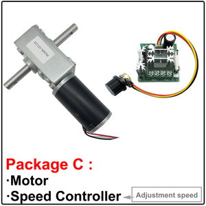 Image 4 - Double Shaft High Torque Worm Geared Motor 24V 12 Volt 5 470RPM Self Locking Adjustable Speed Reversed For Automatic Drying Rack