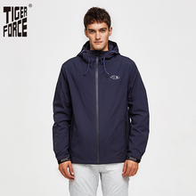 Tiger Force 2019 Men Spring Jacket Casual Hooded Windbreaker Windproof Men's Bomber Jacket Cotton Padded Men Coat Outerwear
