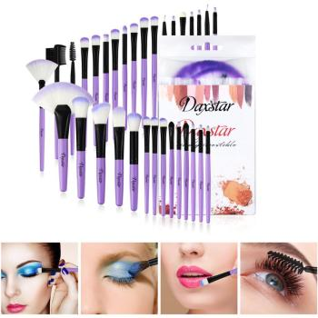Kaizm Professional Soft Champagne 32pcs Makeup Brushes Set Beauty Cosmetic Real Make Up Tools Eyeshadow Blush Blending with Bag