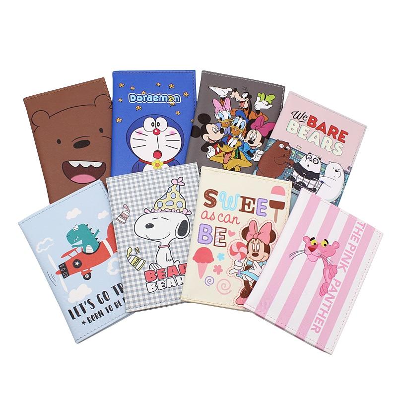 Fashion Cute Animals Cartoon Passport Cover Waterproof Travel Passport Holder Case Men Women Card ID Holders  Passport Packet