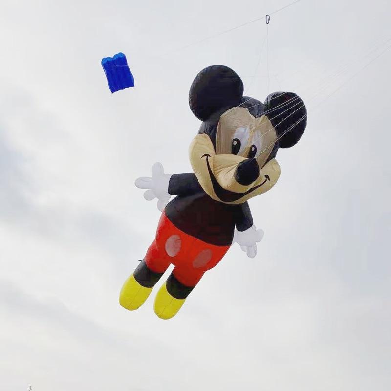 Livraison gratuite de haute qualité 3D mickey doux cerf-volant volant ripstop nylon jouets de plein air weifang animal cerf-volant roue pieuvre nouveau kaixuan
