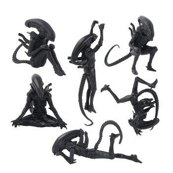 Figuras de Aliens VS Predator, 6 unidades/juego, 3-10cm, figuras híbridas de Xenomorph,...