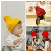 Kids Children Skullies Beanies Hat Cap Boy Girl 2019 Fall Winter Solid Ear Warm Casual Cuffed Elastic Fashion Accessories-MXC-W6