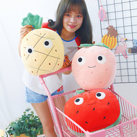 3pc Lovely pineapple Strawberry watermelon fruit vegetable food Anti stress soft creative pillow cushion plush doll Kid toy gift