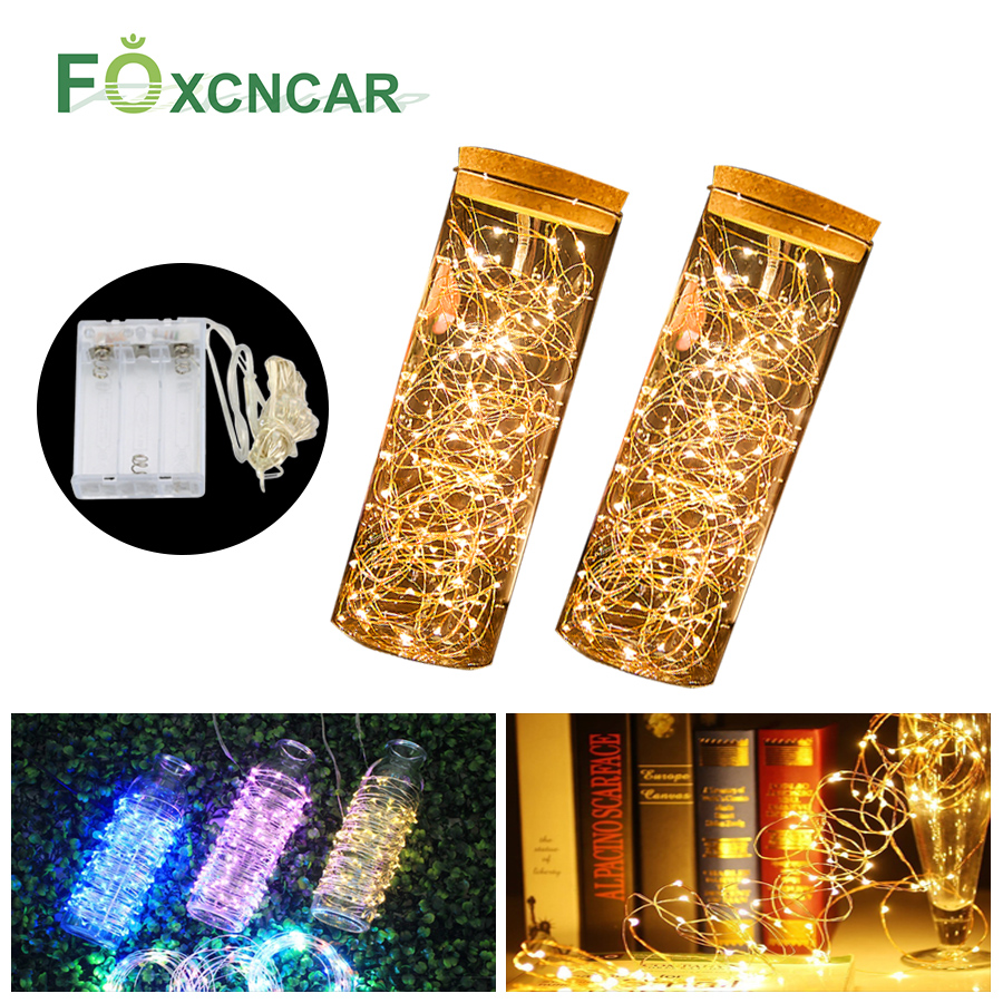 New 5M 10M Fairy Garland LED String Lights Table Lamp Waterproof Christmas Tree Wedding Home Indoor Decoration Battery Powered