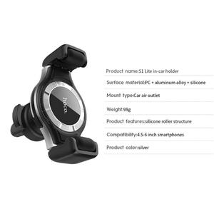 Image 5 - HOCO S1 Lite Clip Adjustable One Hand Operate GPS Air Vent Car Phone Holder Support Dropshipping