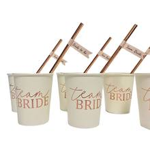 Hen Party Team Bride Cups Bride To Be Straws Bachelorette Party Decoration Supplies Wedding Party Decor