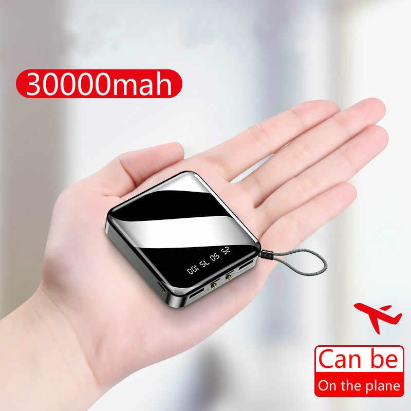 30000 Mah Accumulatori E Caricabatterie di Riserva per IPhone7 Xiaomimi Mini Powerbank Caricatore Della Banca Pover Dual Porte Usb Batteria Esterna Poverbank Portatile