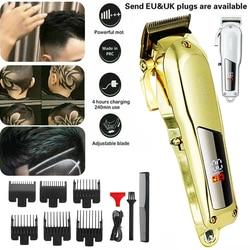 All-Metal Barber Hair Clipper Professional Electric Hair Trimmer Men Cordless Hair Cutter Razor Machine Hair Cut Rechargeable
