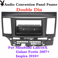 Double Din For Mitsubishi Lancer Fortis Radio Dvd Stereo Panel Dash Mounting Installation Trim Kit Face Frame