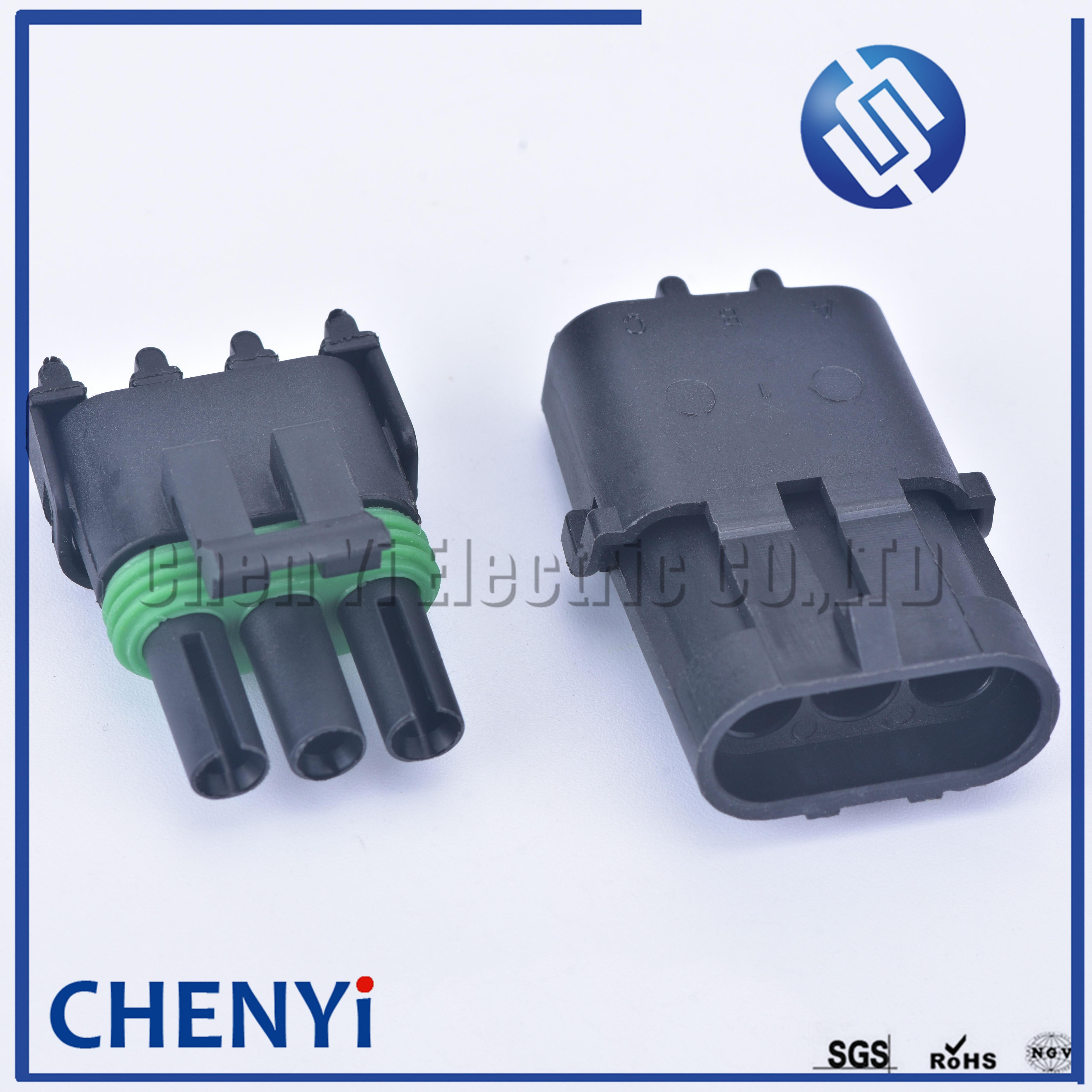 Haltech Plug and PINS seulement Bosch 3 PIN Junior Timer connecteur femelle