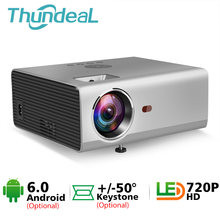 RD825 Mini Projector Native 1280 * 720P Android 6.0 WiFi Projector Portable 3D Beamer LED Movie Home Theater HDMI USB Projector(China)