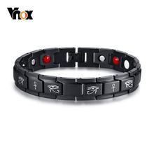 Винтажные браслеты vnox из нержавеющей стали для магнитной терапии
