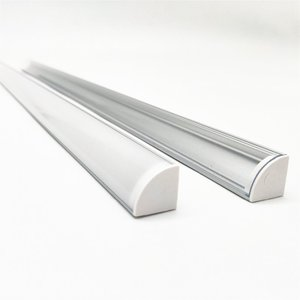 Image 3 - 1 30pcs 50cm LED Bar Light Housing V Shape Triangle Aluminum Profile Mikly Clear Cover Connector Clip Channel for 12mm PCB Strip