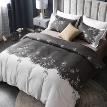 Duvet-Cover-Set Pastoral-Bedding-Sets King Nordic Double-Queen Floral-Printed Single