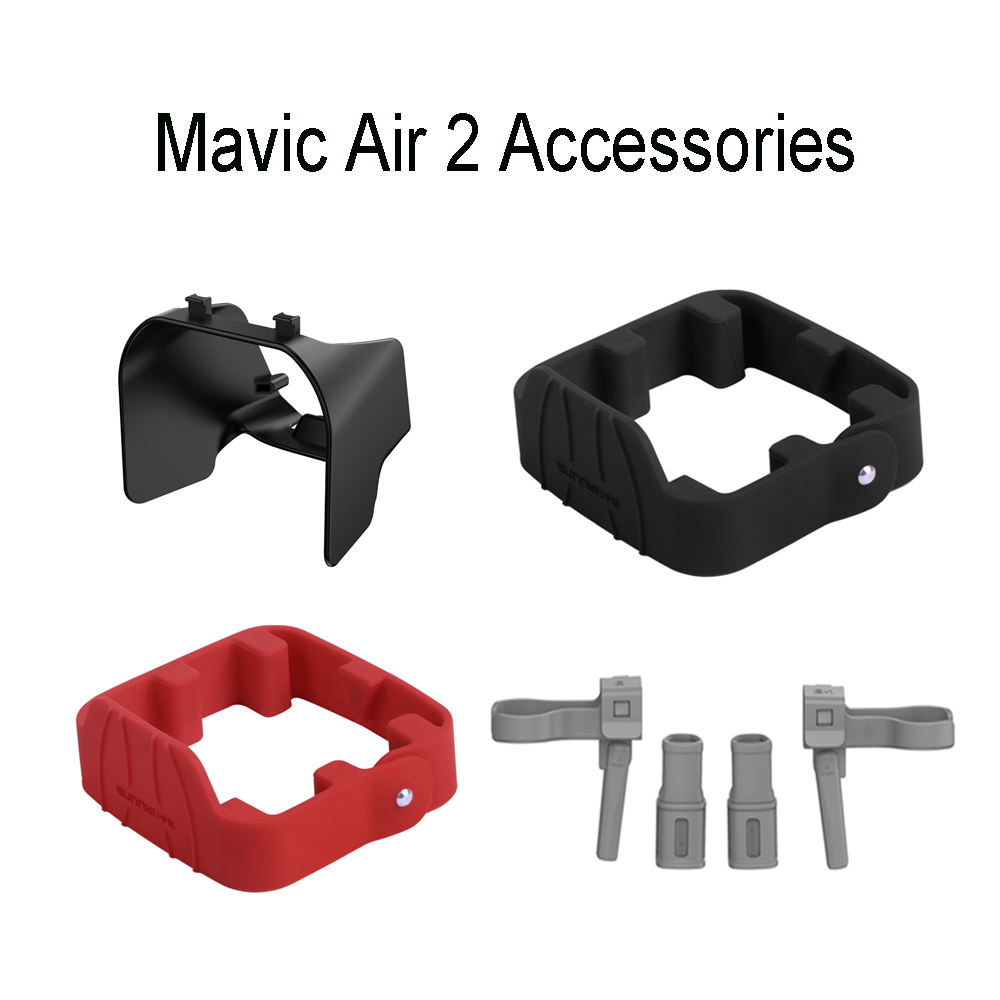 Drone Mavic Air 2 Accessoreis Propeller Holder Guard Lens Hood Lens Sunshade Landing Gear Protective kits for DJI Mavic Air 2