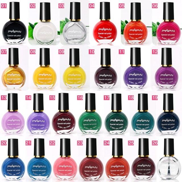 26 Color LED UV Gel Nail Polishes Nail Stamping Polish for Pattern Plate Stamp Print Art Design Nail Art Polish Nail Beauty tool