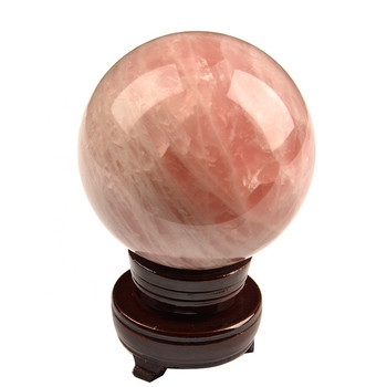 1pc 100mm homemade crystal ball Natural  Polished Rose Quartz Spheres for healing