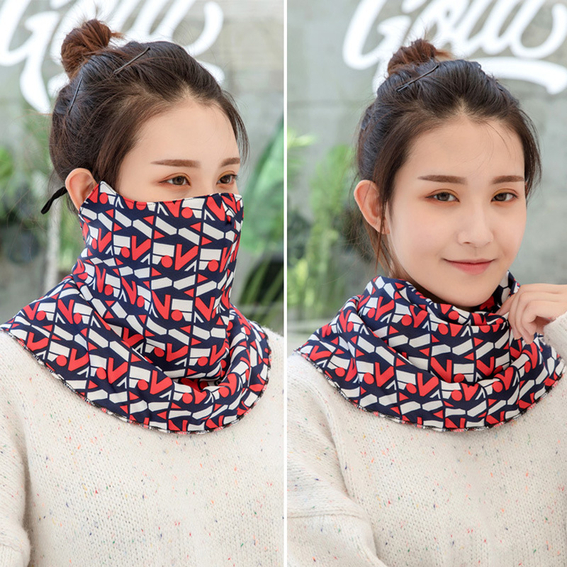 The New Face Mask Three-in-one Multifunctional Women Men Scarf Fashion Printing Outdoor To Prevent Dust Germ Pollen Headdress