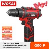 WOSAI 16V wiertarka akumulatorowa elektryczny śrubokręt Mini bezprzewodowy sterownik mocy DC akumulator litowo-jonowy 3/8-Cal