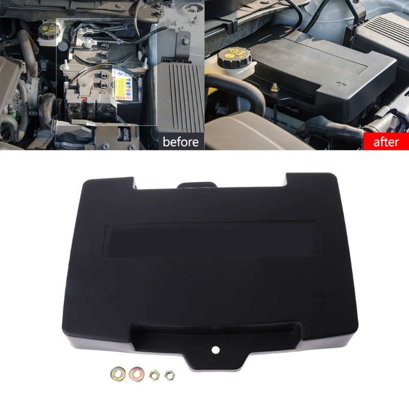 1 Pc For Mazda <font><b>CX</b></font>-<font><b>5</b></font> KF 2017 <font><b>2018</b></font> Positive/Negative Battery Waterproof Dust-proof Protective Cover Plastic Battery Protective image