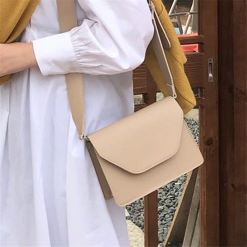 Fashion Bags For Women Pu Leather Shoulder Bags Girls Brief Flap Women's Casual Messenger Bags Crossbody Bags 40#413