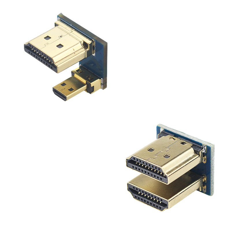 1080P HDMI To Micro HDMI Converter Male To Male Adapter For Raspberry Pi 3/4 HDMI LCD Touchscreen Display