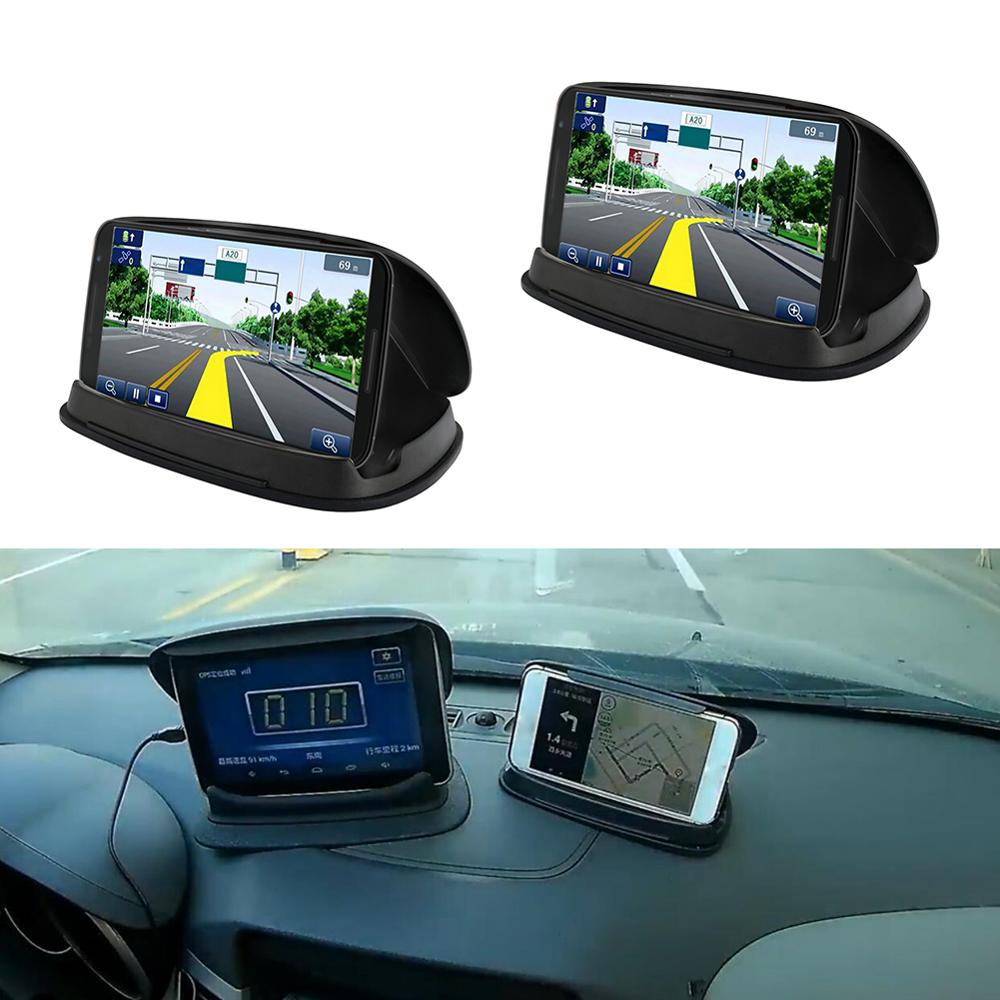 Anti-skid pad car phone holder instrument center console silicone mobile navigation device