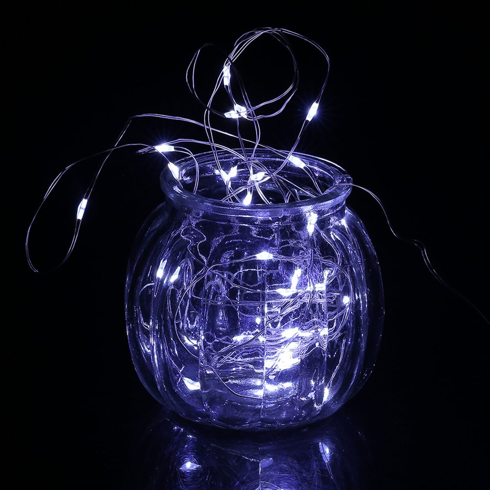 Super Bright 3m Waterproof 30 Led Silver Wire String Light Christmas Wedding Party Decoration Lamp IP66 With Button Battery