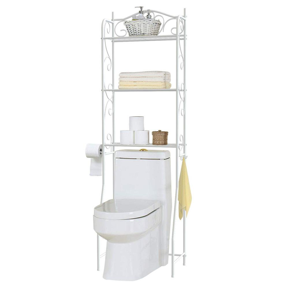 3 Layers Storage Rack Free Drilling Shelf For Bathroom Toilet Display Stand