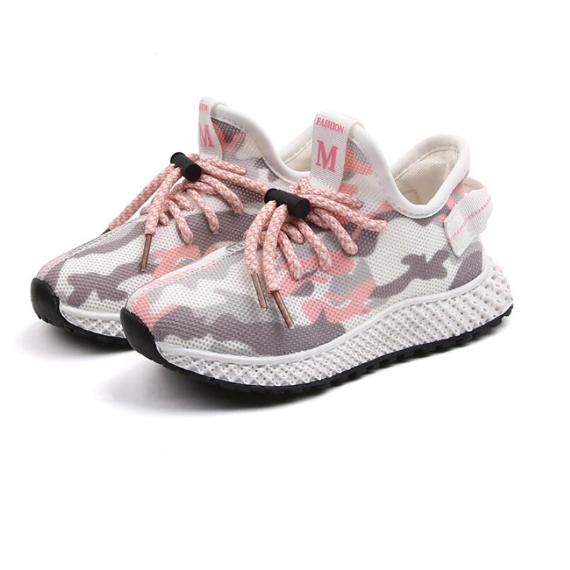 Anne ve Çocuk'ten Tenis Ayakk.'de 2020 yeni bahar çocuk ayakkabı erkek kız spor ayakkabılar moda nefes örgü erkek ayakkabı açık rahat çocuk koşu ayakkabıları title=