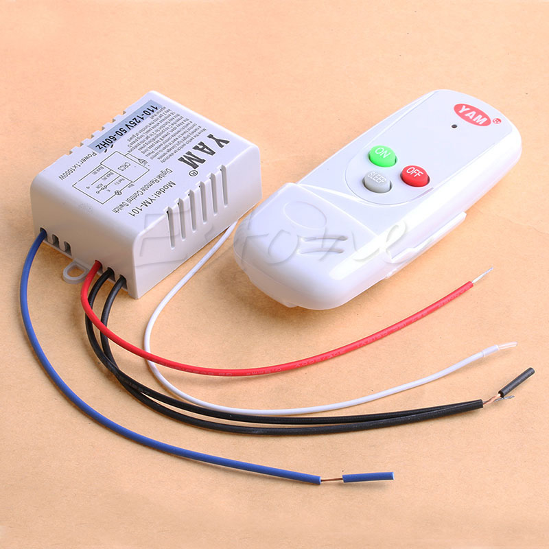 New Wireless 1Way Light Lamp Remote Control Switch ON/OFF 110V Anti-interference