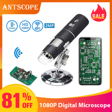 1080P 1000X WiFi Digital Microscope for Android Iphone Mobile Phone 8 LED 3in1 kids USB Endoscope Zoom Camera