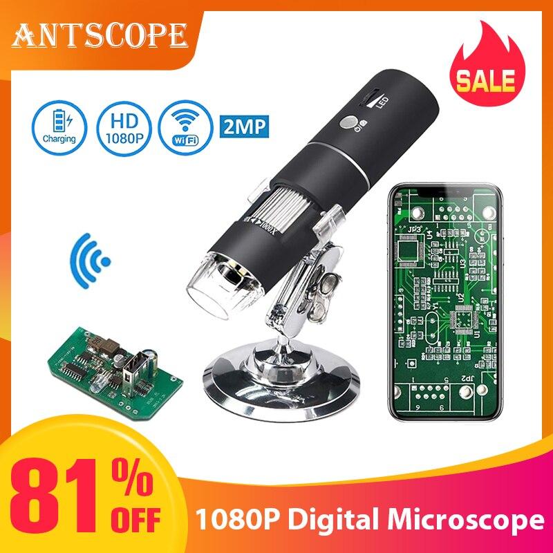 1080P 8 1000X WiFi Microscópio Digital para Iphone Android Telefone Móvel LEVOU 3in1 crianças Microscópio Digital USB Endoscópio Zoom câmera
