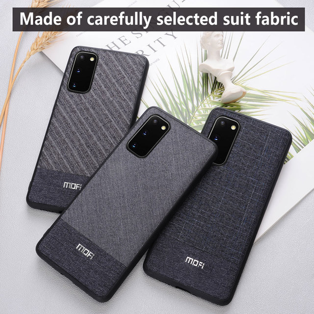 MOFi Galaxy S20 S20 Plus S20 Ultra Fabric Shockproof Back Case Cover