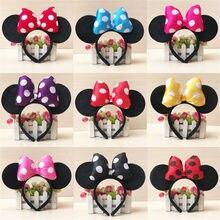 Zafille linda hairbands minnie orelhas menina faixa de cabelo para foto tiro festa de aniversário headwear fotografia meninas acessórios para o cabelo