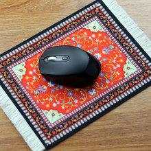 MRGBEST Persian Mini Woven Rug Mat Mousepad Retro Style Carpet Pattern Cup Mouse Pad with Fring Home Office Table Decor Craft