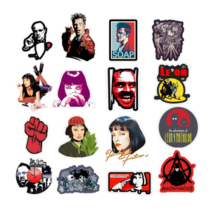 Image 2 - 50pcs Classic Movie stickers For Luggage Laptop Art Painting Kill Bill Pulp Fiction Poster Stickers waterproof skateboard toy