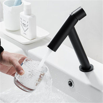 Bathrom Basin Faucet Solid Brass Sink Mixer Tap Water Faucet Waterfall Basin Mixer Faucet Deck Mounted Wiredrawing Brushed Black countertop waterfall deck mounted basin sink tall faucet bathroom mixer taps brushed nickel