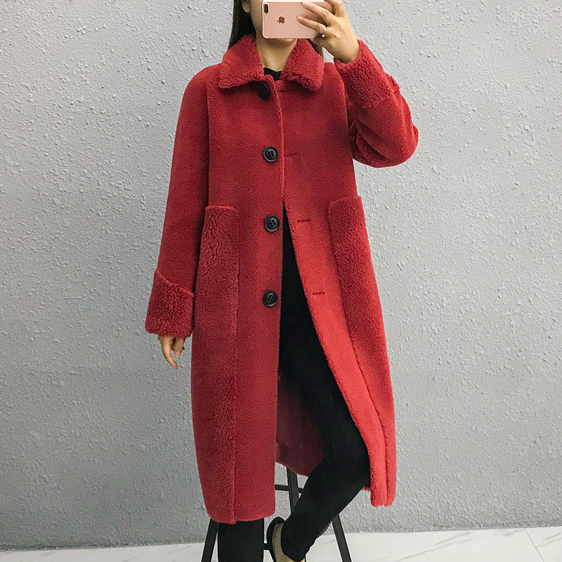 Sheep Real Shearling Fur Coat 2020 Winter Jacket Women Real Wool Coats And Jackets Women Korean Outwear Abrigo Mujer MY S S