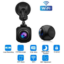 Wifi Auto Dash Cam Creatieve Oogbol 1080P HD DVR Camera Video Recorder 170 Graden Kijkhoek Auto Camera Griffier camcorder(China)