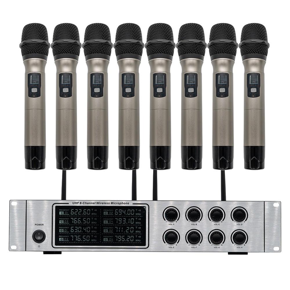 Wireless mikrofon system professional UHF kanal dynamische mikrofon 8 kanal bühne leistung lavalier mikrofon - 4